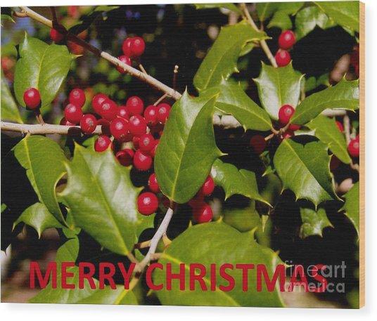 Christmas Card 1  Wood Print
