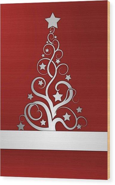 Christmas Card 23 Wood Print