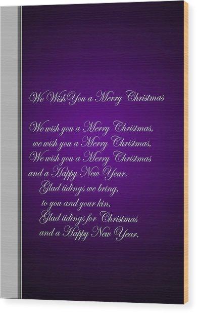 Christmas Carol 1 Wood Print