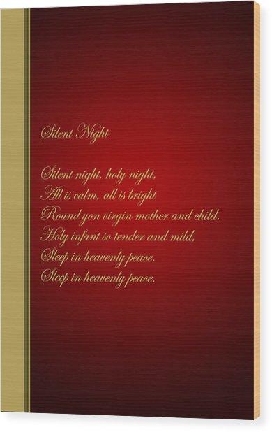 Christmas Carol 4 Wood Print