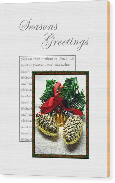 Christmas Decoration 2 Wood Print