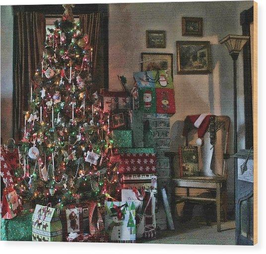 Christmas Wood Print