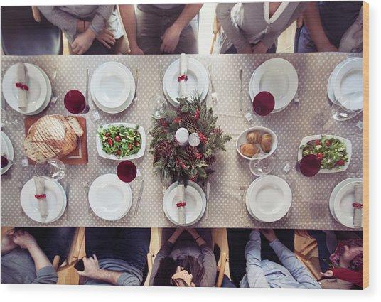 Christmas Dinner Wood Print by Orbon Alija