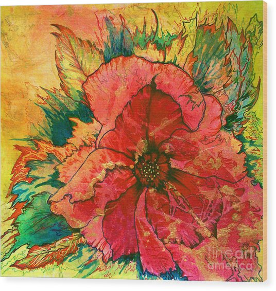 Christmas Flower Wood Print