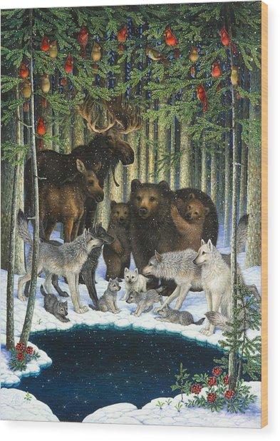 Christmas Gathering Wood Print