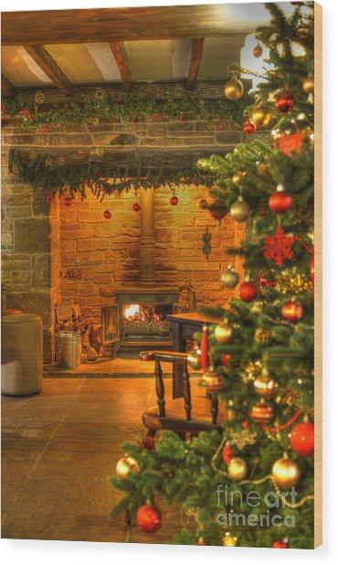 Christmas Glow Wood Print