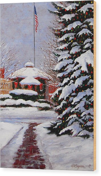 Christmas In Chagrin Falls Wood Print