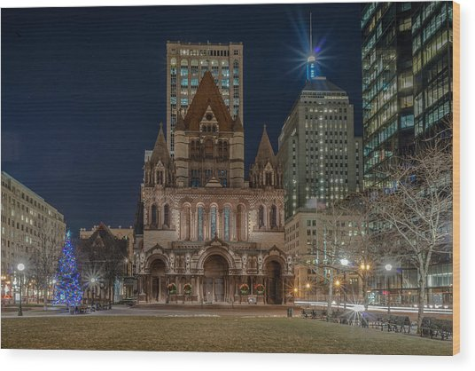 Christmas In Copley  Wood Print