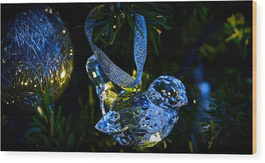 Christmas In Glass Wood Print