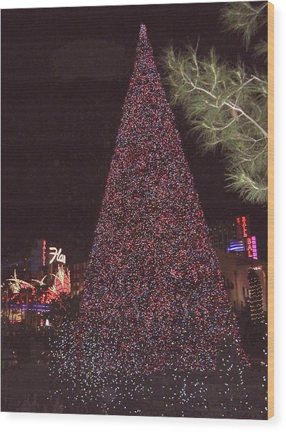 Christmas In Las Vegas Wood Print