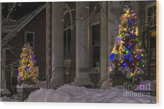 Christmas In Stowe Vermont. Wood Print