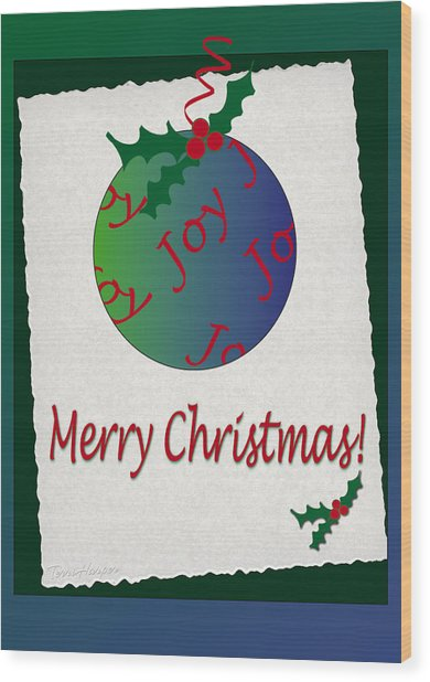 Christmas Joy Wood Print