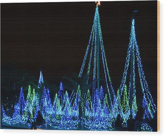 Christmas Lights 1 Wood Print