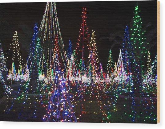 Christmas Lights 3 Wood Print