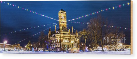 Wood Print featuring the photograph Christmas On The Square by Michael Arend