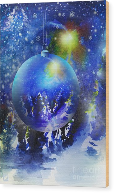 Christmas Ornament Wood Print