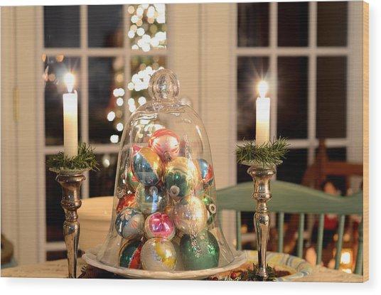Christmas Ornaments Wood Print