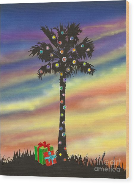 San Clemente Christmas Wood Print