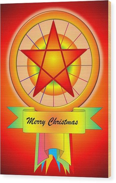 Christmas Parol Wood Print