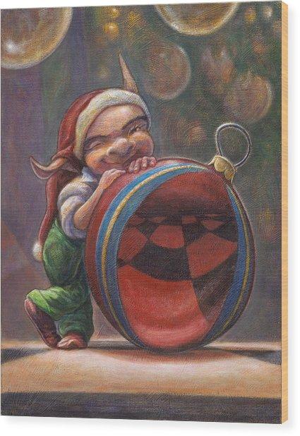 Christmas Reflections Wood Print by Leonard Filgate