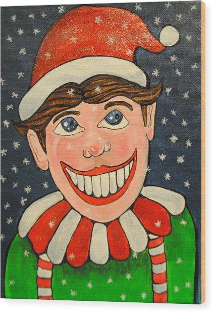 Christmas Tillie Wood Print