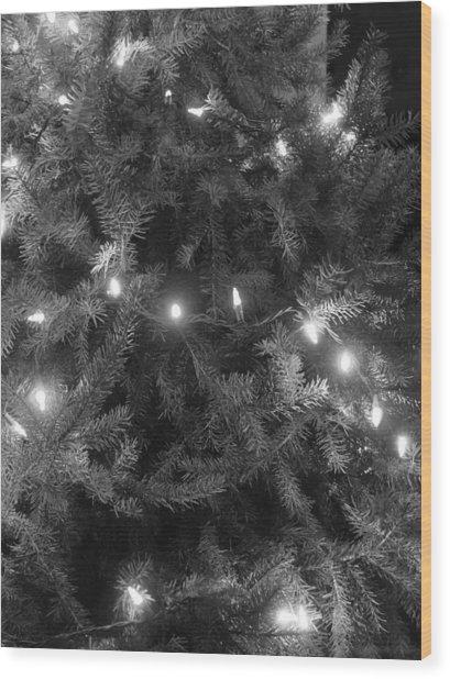 Christmas Tree Wood Print by Anastasia Konn