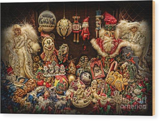Christmas Tree Ornaments Wood Print by Lee Dos Santos
