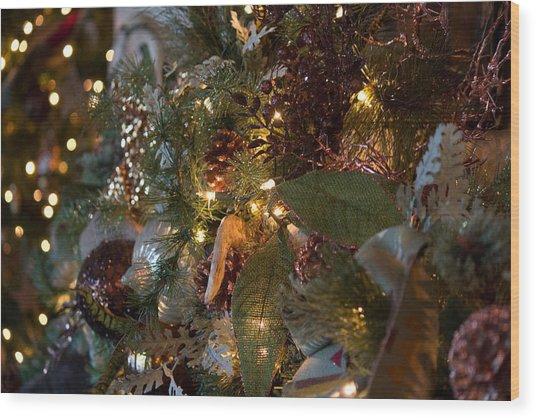 Christmas Tree Splendor Wood Print
