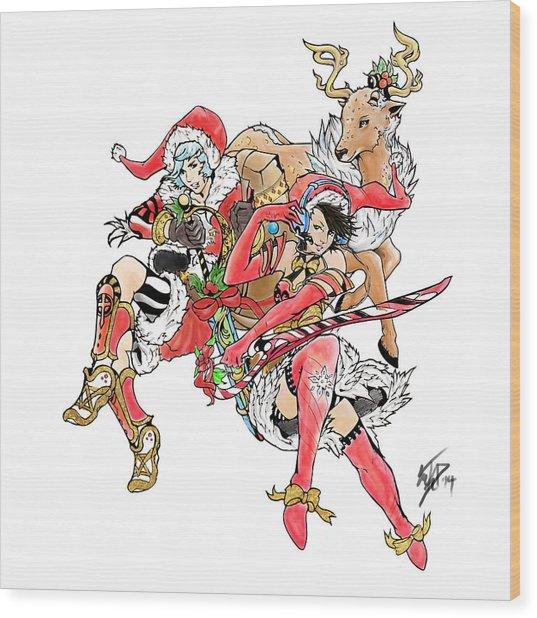 Christmas Trio Wood Print by Miguel Karlo Dominado