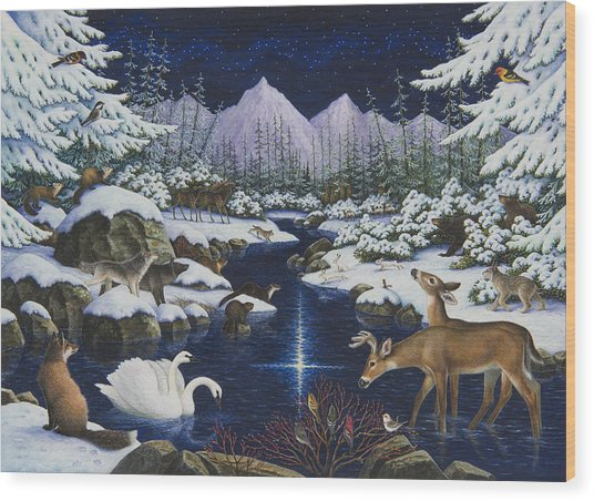 Christmas Wonder Wood Print