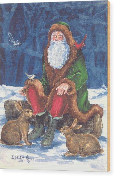 Christmas Woodland Series Wood Print