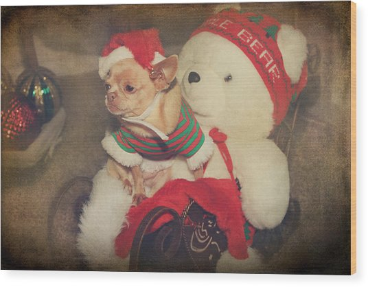 Christmas Zoe Wood Print