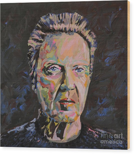 Christopher Walken Portrait Wood Print