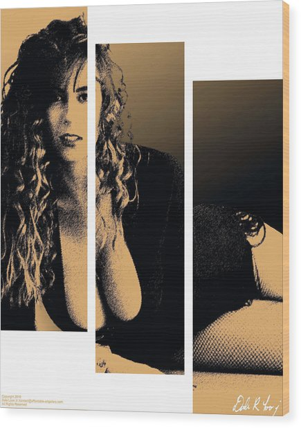 Christy Canyon In Copper Wood Print
