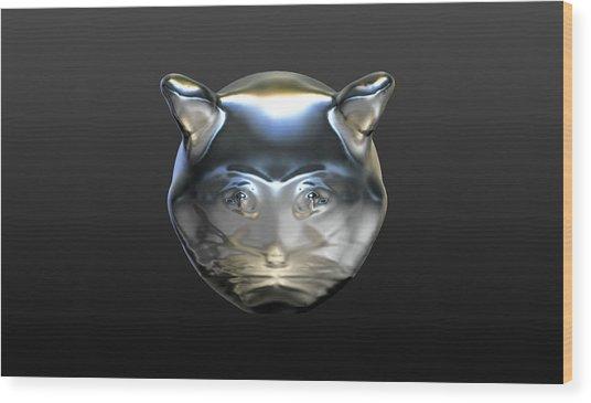 Chrome Cat Wood Print
