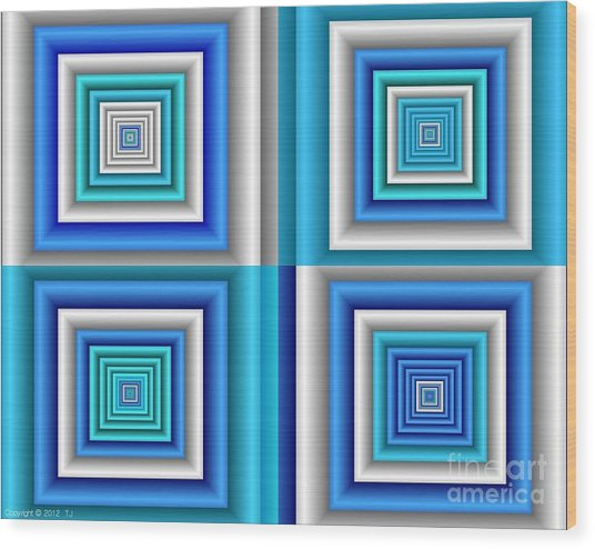 Chromodynamic  5 Wood Print