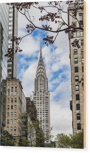 Chrysler Building Wood Print by Chris Halford
