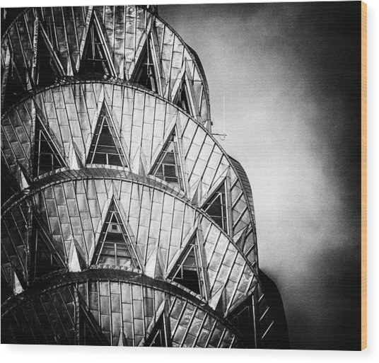Chrysler Building Crown Wood Print