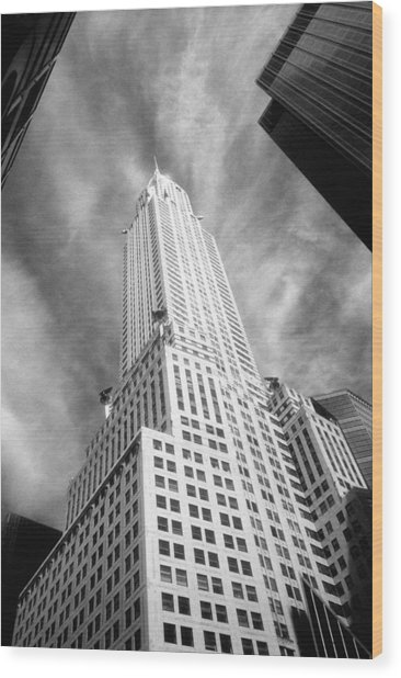 Chrysler Building Infrared Wood Print