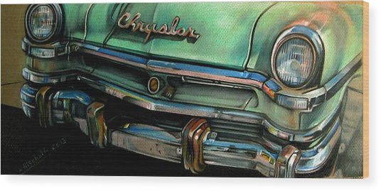 Chrysler Smile Wood Print by Kathleen Bischoff