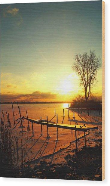 Chtistmas Dock 1 Wood Print