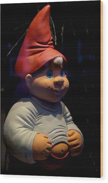 Chubby Elf Wood Print