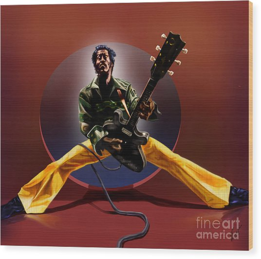 Chuck Berry - This Is How We Do It Wood Print