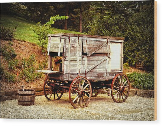 Chuck Wagon Wood Print