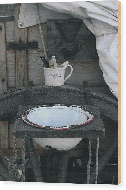 Chuckwagon Wash Basin Wood Print