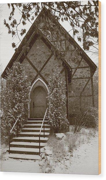 Church Algoma University Wood Print