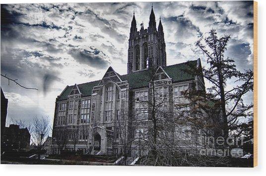 Church At Boston College Wood Print