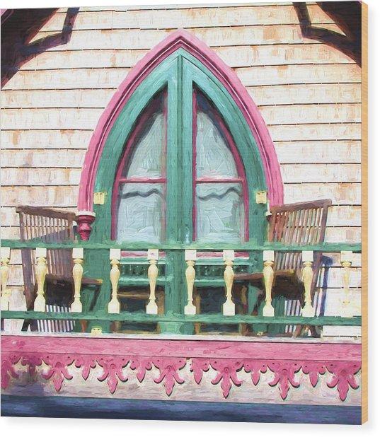 Church Camp House Detail Painterly Series 8 Wood Print
