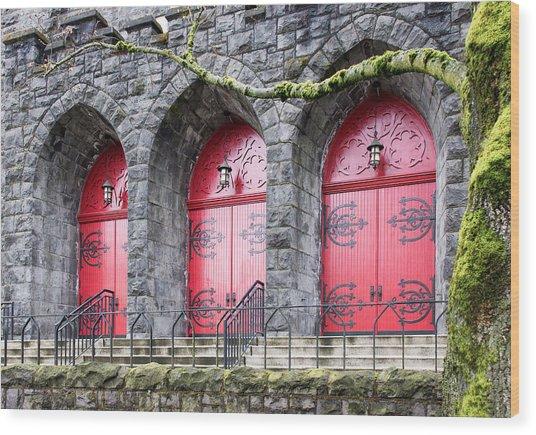 Church Doors Wood Print