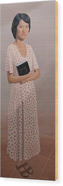 Church Lady Wood Print